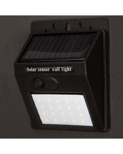 Naświetlacz Solarny LED 3W 5500-6000K Zimna IP65 Czarny Masterled Czujnik Zmierzchu