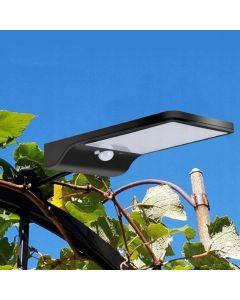 Naświetlacz Solarny LED SLIM 5W 5500-6000K Zimna IP65 Czarny Masterled Czujnik Ruchu  + UCHWYT