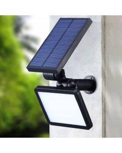 Naświetlacz Solarny LED WBIJANY Reflektor 3W 5500-6000K Zimna IP54 Czarny Masterled Czujnik