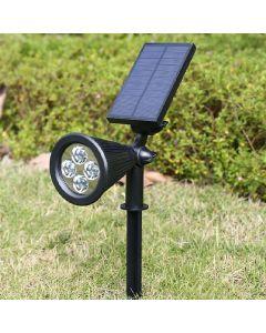 Lampa Ogrodowa LED Solarna Wbijana Reflektor 2W Zimna IP65 czujnik zmierzchu Masterled