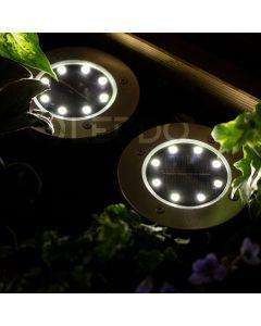 Zestaw 4x Lampka Ogrodowa 8x LED 0,8W SOLARNA DOGRUNTOWA Wbijana IP54