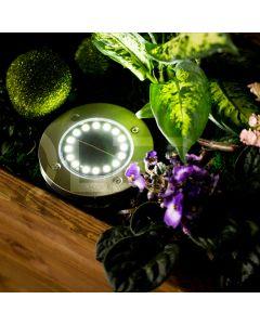 Zestaw 4x Lampka Ogrodowa 16x LED 1,2W SOLARNA DOGRUNTOWA Wbijana IP54