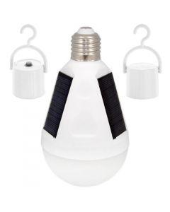 Żarówka SOLARNA LED E27 12W = 70W 960lm 4500K Turystyczna Biwakowa Wisząca