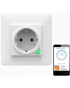 Inteligentne Gniazdko Podtynkowe Wifi SMART Tuya 16A