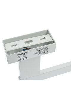 Kinkiet SHINE prostokąt biały 11W LED IP44 Metal i tworzywo Milagro