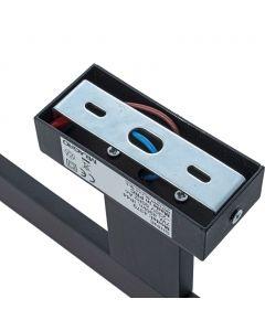 Kinkiet SHINE prostokąt czarny 7W LED Metal i tworzywo Milagro IP44