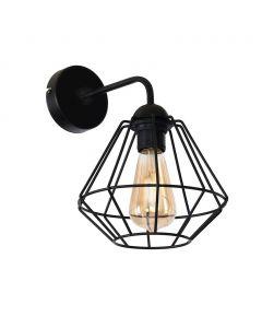 Kinkiet lampa ścienna COLIN Czarny 1xE27 MILAGRO styl loft industrial metal