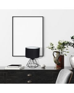 Lampa stojąca COLIN czarna 1xE27 MILAGRO styl loft industrial metal