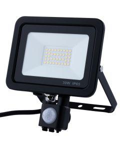 Naświetlacz LED HALOGEN 30W 2400lm 4000K IP65 Czujnik Ruchu ANDER ELWATT