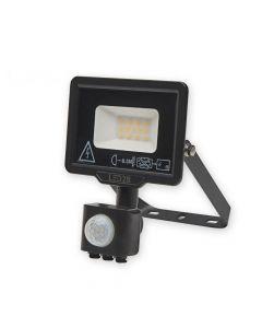 Naświetlacz LED HALOGEN MHC 10W 6000K 800lm Czarny LED2B KOBI Czujnik ruchu