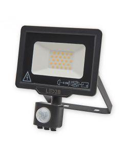 Naświetlacz LED HALOGEN MHC 20W 6000K 1600lm Czarny LED2B KOBI Czujnik ruchu