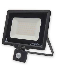 Naświetlacz LED HALOGEN MHC 50W 3000K 4000lm Czarny LED2B KOBI Czujnik ruchu