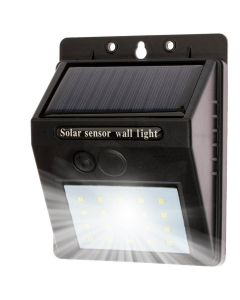 Naświetlacz LED SOLARNY 3W 5500-6000K Zimna IP65 Czarny CZUJNIK ZMIERZCHU Masterled
