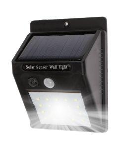 Naświetlacz Solarny LED 3W 5500-6000K Zimna IP65 Czarny Masterled Czujnik Ruchu