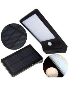 Naświetlacz LED SOLARNY SLIM 5W 5500-6000K Zimna IP65 Czarny CZUJNIK RUCHU Masterled