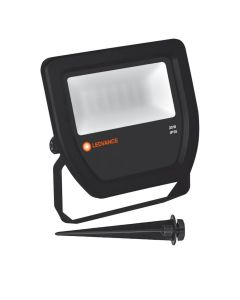 Zestaw Naświetlacz LED 20W 6500K IP65 LEDVANCE Czarny + Szpikulec wbijany Radium