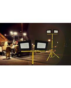 Lampa HALOGENOWA Naświetlacz LED KOBI 2x50W 6000K na statywie POLUX
