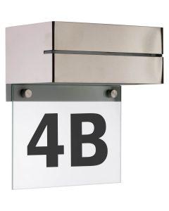 Kinkiet Lampa Elewacyjna z Numerem Domu DOOR Srebrna 6W IP54 - Volteno