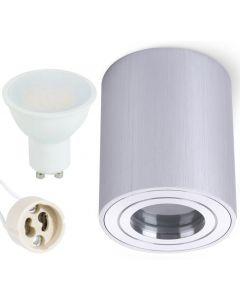 Oprawa do nabudowania GU10 AQUARIUS ROUND Wodoodporna Chrom + LED 6W Neutralna