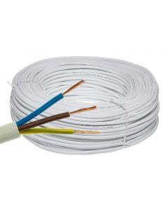 Przewód Kabel OMY 3x1,5mm LINKA BIAŁY 1 METR