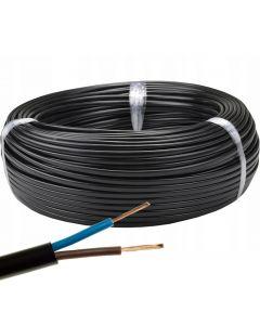 Przewód Mieszkaniowy Płaski Kabel OMYp 2x0,5 mm LINKA CZARNY 10m