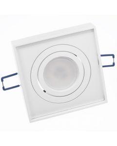 Oprawa Podtynkowa HALOGENOWA Ruchoma MIDI GU10 LUMILED Kwadratowa Biała 20mm