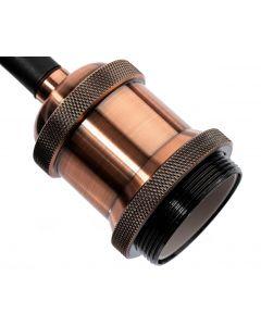 LAMPA wisząca Zawiesie z oprawką IL MIO NOLA E27 miedź 100cm kabel czarny