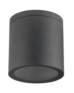 Lampa Sufitowa SPOT LED  QUAZAR 18 GU10 IP44 KOBI ALUMINIUM Okrągła Czarna