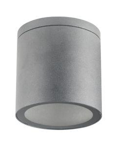 Lampa Sufitowa SPOT LED QUAZAR 18 GU10 IP44 KOBI ALUMINIUM Okrągła Szara