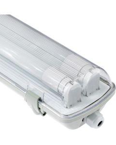 Oprawa hermetyczna 120cm IP65 + 2x Świetlówka LED 18W 4000K LUMILED
