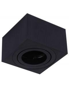 Oprawa Natynkowa SPOT OH37S Kwadratowa Ruchoma Czarna  + Wkład 5W 3000K KOBI