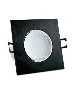 Oprawa podtynkowa ruchoma kwadratowa LED czarna 6W 500lm 6400K POLUX