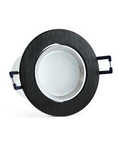 Oprawa podtynkowa ruchoma okrągła LED czarna 6W 470lm 3000K POLUX