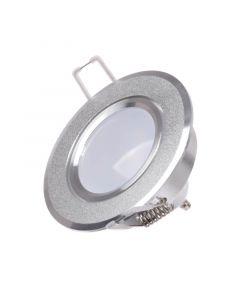 Oprawa sufitowa podtynkowa SUN OLAL srebrny piaskowany alu POLUX + LED GU10 3,5w