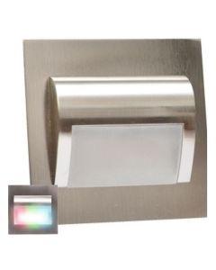 Oprawa schodowa RGB Lampka DECORUS 9 LED 1,2W Satyna ProVero