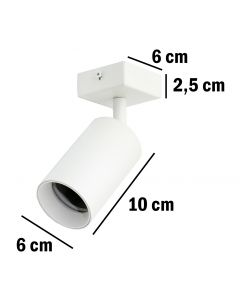 Kinkiet sufitowy GU10 SPOT Lampa LED QUALIS I Biały + pierścień czarny