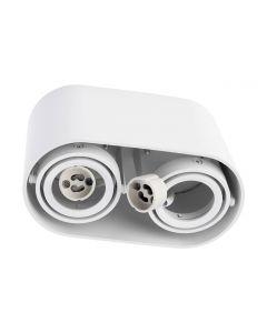 Oprawa sufitowa natynkowa SPOT SIROK 2x GU10 okrągła ruchoma biała BOWI