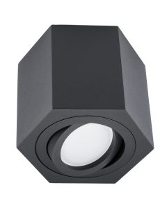 Oprawa sufitowa natynkowa SPOT ARENO GU10 ruchoma czarna BOWI