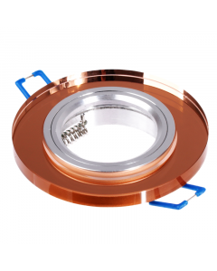 Oprawa szklana MR16 GU10 okrągła stała bursztyn