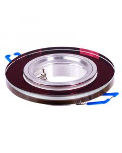 Oprawa szklana MR16 GU10 okrągła stała fiolet