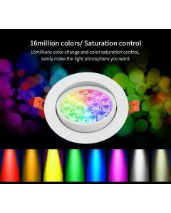 Sufitowa OPRAWA LED okrągła ruchoma SPOTLIGHT 9W RGB+CCT Mi-Light - FUT062