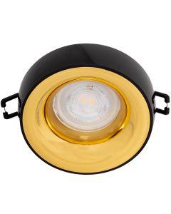 Oprawa sufitowa halogenowa ELNIS L MR16 GU10 czarno-złota Kanlux