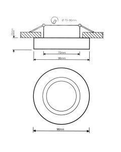Oprawa Podtynkowa HALOGENOWA Ruchoma MIDI GU10 LUMILED Okrągła Biała 20mm