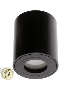 Oprawa do nabudowania GU10 AQUARIUS ROUND Wodoodporna Czarna + LED 6W Neutralna