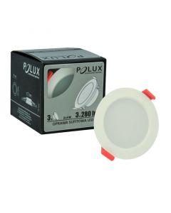 Zestaw  3 x Oprawa podtynkowa okrągła MIRO LED Biała 4W 280lm 3000K POLUX