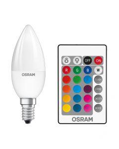 Żarówka LED E14 BA35 4,5W = 25W 250lm RGBW OSRAM PILOT
