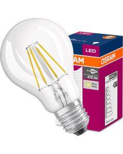 Żarówka LED E27 A60 4W = 40W 470lm 2700K Ciepła 320° OSRAM Filament