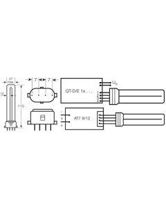Świetlówka 2G7 7W 400lm 3000K Ciepła OSRAM Dulux S/E Ściemnialna