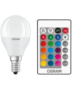 Żarówka LED KULKA E14 5,5W = 40W 470lm OSRAM STAR RGBW + PILOT