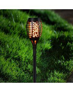 Lampa SZPIKULEC PŁOMIEŃ ogrodowa LED solarna wbijana efekt płomienia 40cm